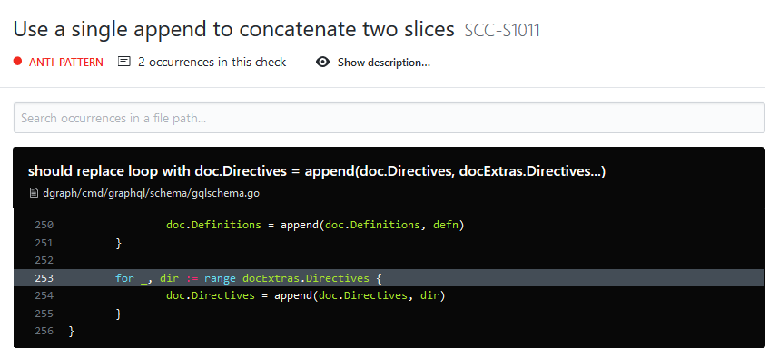 Use a single append to concatenate two slices